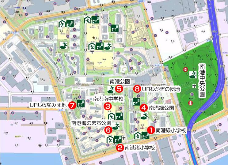 住之江区防災マップ(地区別地図)